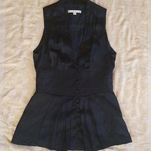 Nanette Lepore Black Silk Vest